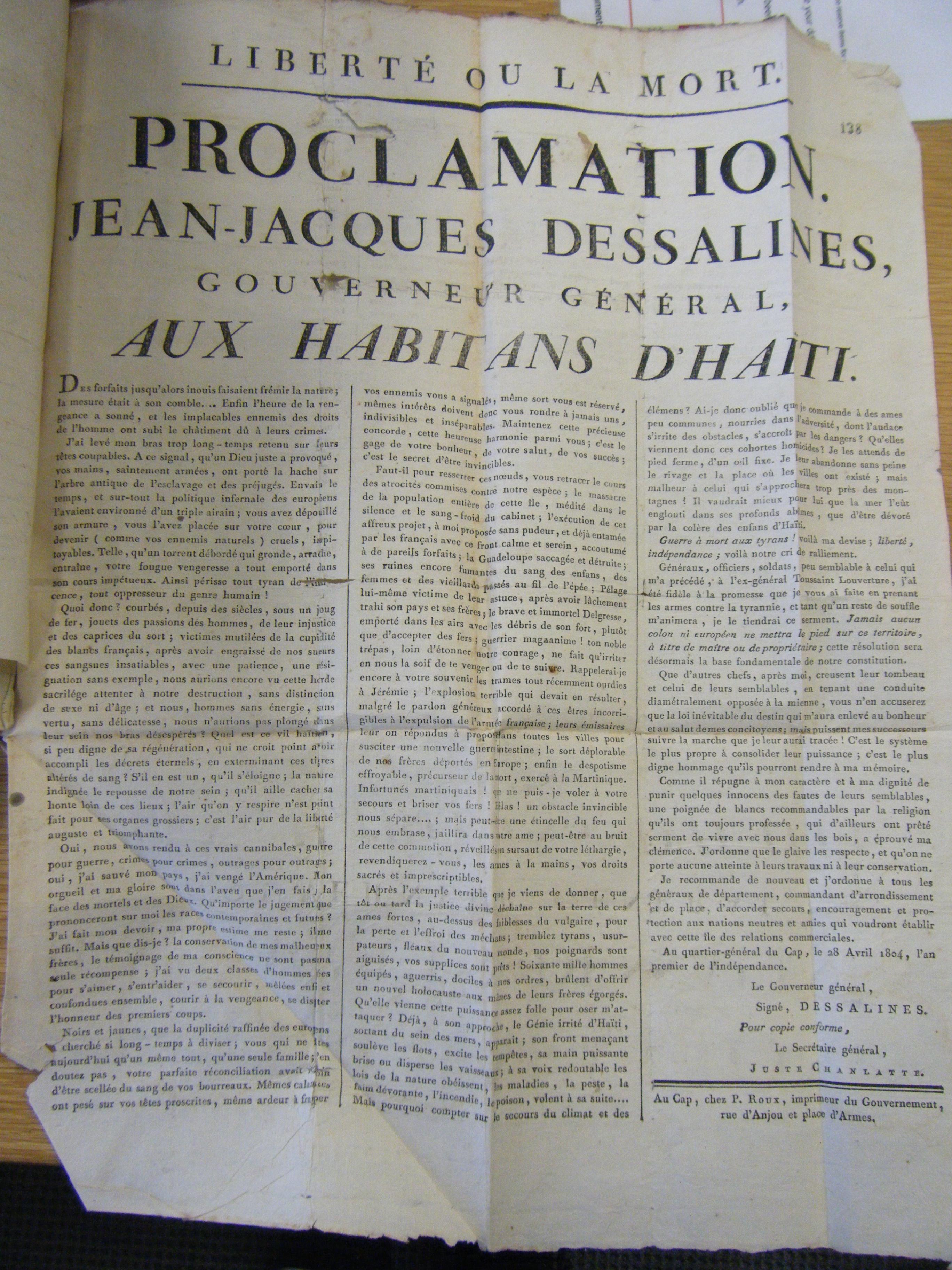 Haiti independence essays