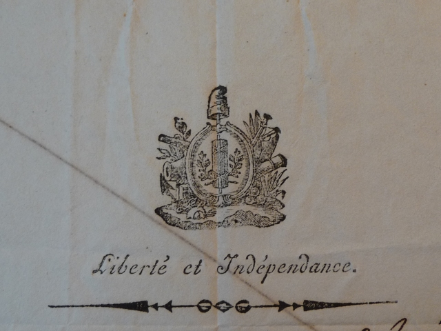Document communicated by Philippe Girard, original in the Historical Society of Pennsylvania