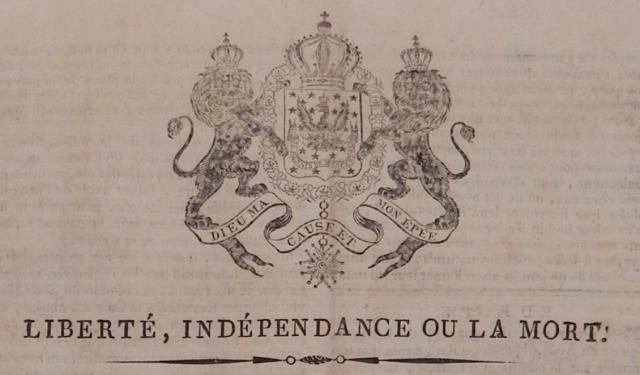 Gazette Royal D'Hayti, 17 October 1816, The Danish National Archives, Copenhagen, Rigsarkivet, 302 Dep for de Udenlandske Anliggender, 1775-1847, Gruppeordnede sager: Vestindien: Sager vedr.: Vestindien.