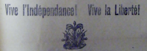 Le Soir, 31 December 1903, available at FIC Bibliothèque Haïtienne in Port-au-Prince, Haiti
