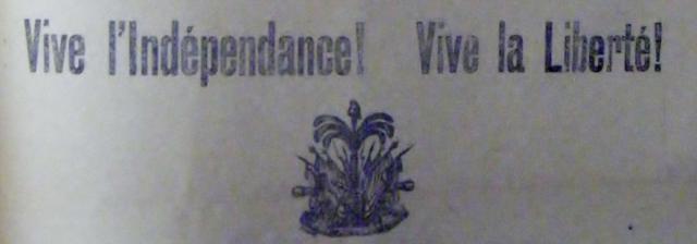 Le Soir, 31 December 1903, available at FIC Bibliothèque Haïtienne in Port-au-Prince, Haiti