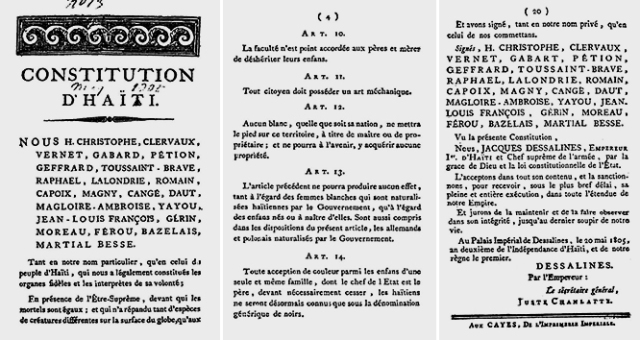 Excerpts of the 1805 Constitution